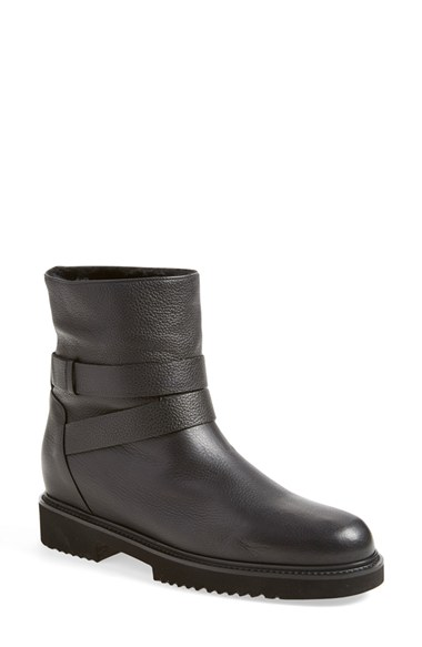 VINCE Cagney Shearling Fur-Lined Leather Moto Boot at Nordstrom