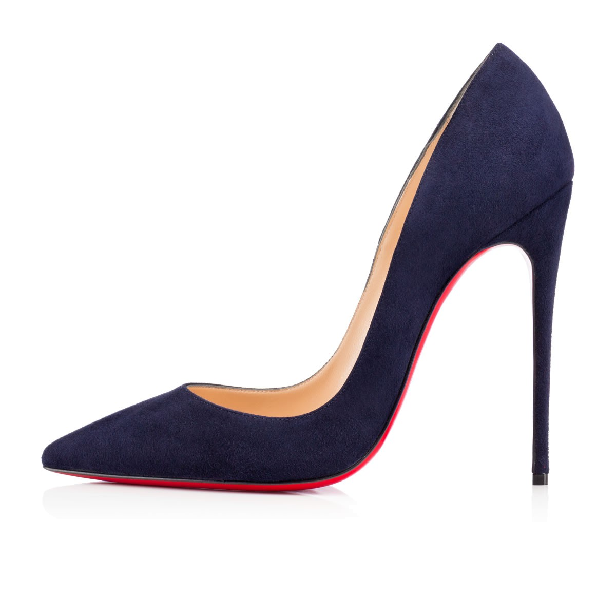 CHRISTIAN LOUBOUTIN Midnight Blue Suede 'So Kate 120' Stiletto Pumps at Christian Louboutin