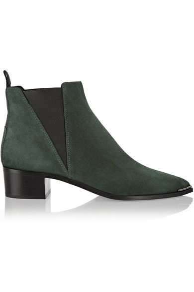 ACNE STUDIOS Jensen Pointy-Toe Ankle Boot, Black at NET-A-PORTER