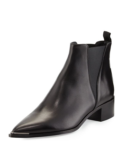 ACNE STUDIOS Jensen Pointy-Toe Ankle Boot, Black at BERGDORF GOODMAN