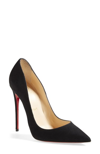 CHRISTIAN LOUBOUTIN Black Suede 'So Kate' Stiletto Pumps at Nordstrom