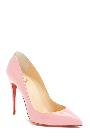 CHRISTIAN LOUBOUTIN Pigalle Follies Patent Point-Toe Red Sole Pump at Nordstrom