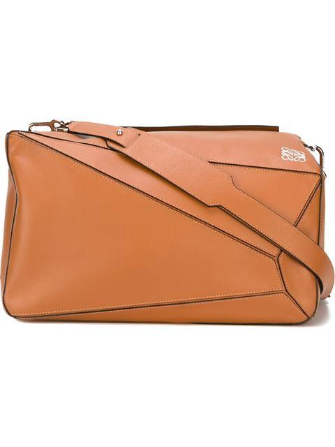 LOEWE Puzzle Medium Leather Shoulder Bag at Farfetch