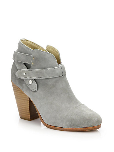 RAG & BONE Harrow Leather Ankle Boot, Light Gray at Saks Fifth Avenue