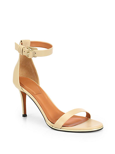 GIVENCHY Nadia Sandals In Neutral Leather in Neutrals