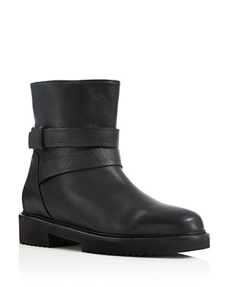 VINCE Cagney Shearling Fur-Lined Leather Moto Boot at Bloomingdale's