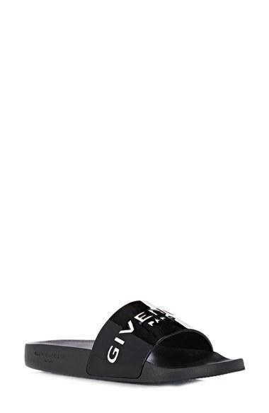GIVENCHY 20Mm Logo Embossed Rubber Slide Sandals, Black at Nordstrom