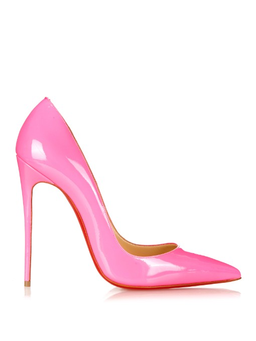 CHRISTIAN LOUBOUTIN Pigalle Follies Patent Point-Toe Red Sole Pump at MATCHESFASHION.COM