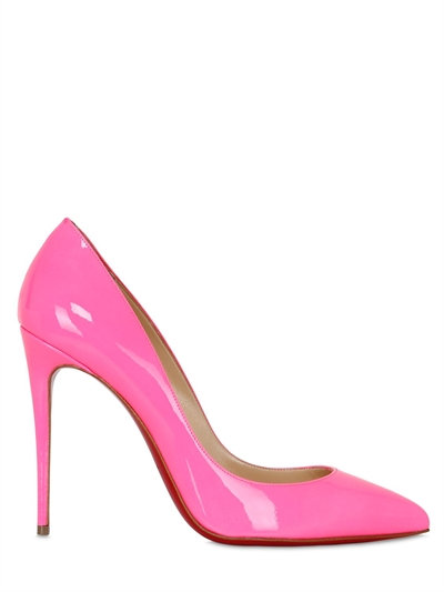 CHRISTIAN LOUBOUTIN Pigalle Follies Patent Point-Toe Red Sole Pump at LUISAVIAROMA