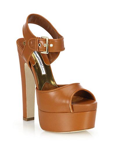 BRIAN ATWOOD Karin Leather Platform Sandals
