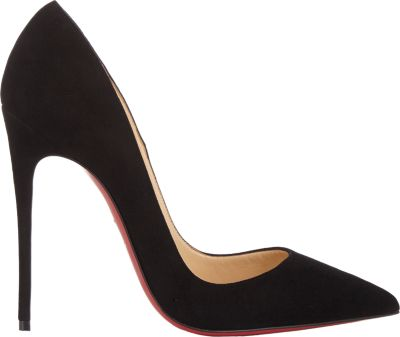 CHRISTIAN LOUBOUTIN Black Suede 'So Kate' Stiletto Pumps at BARNEYS