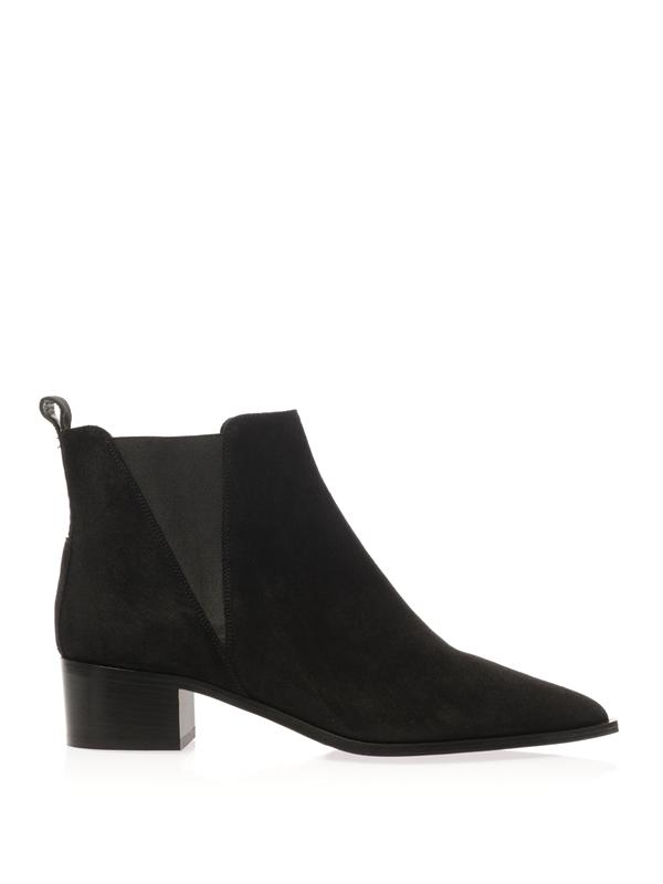 ACNE STUDIOS Jensen Pointy-Toe Ankle Boot, Black at MATCHESFASHION.COM