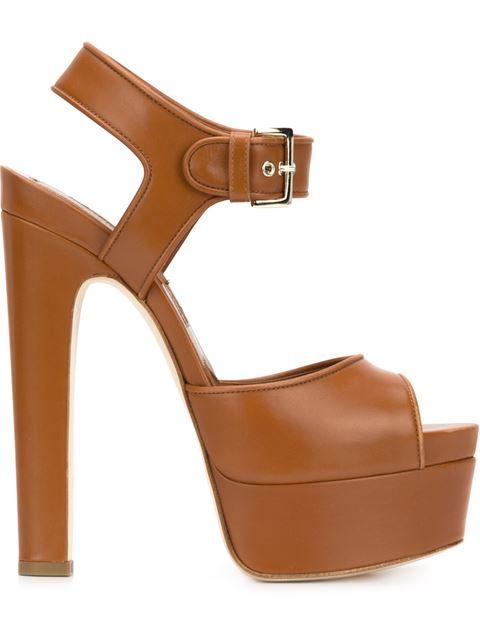BRIAN ATWOOD Karin Leather Platform Sandals at Farfetch
