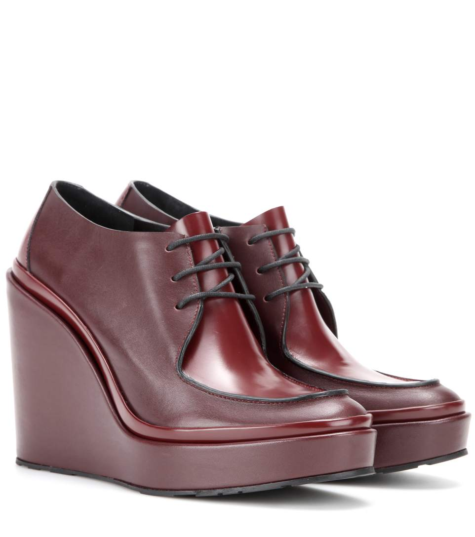 JIL SANDER Platform Leather Derby Shoes at mytheresa.com