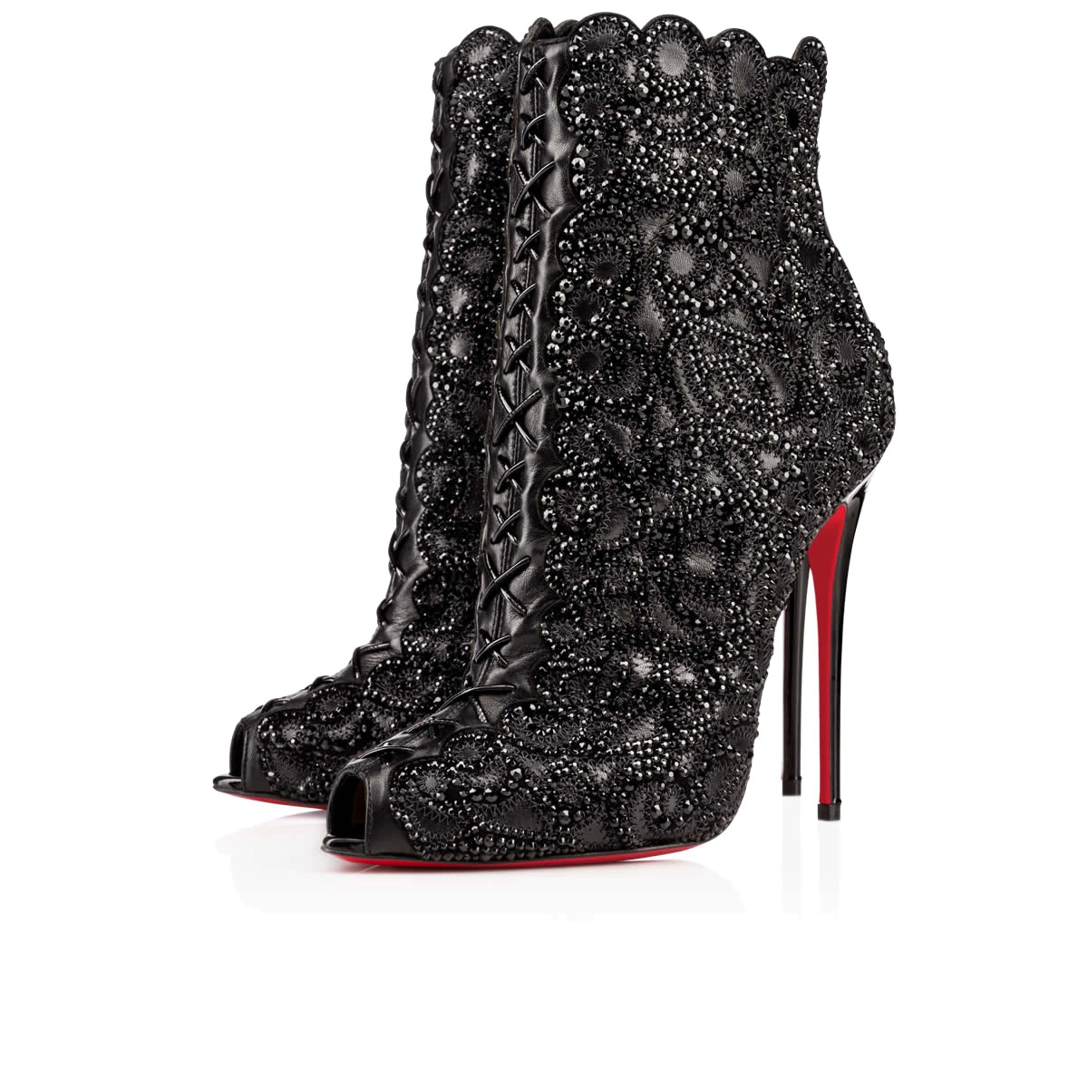 CHRISTIAN LOUBOUTIN Rihanini 120Mm Black Strass