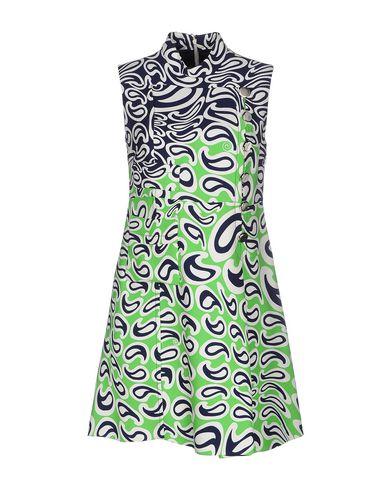 miu miu printed sleeveless dress in green modesens