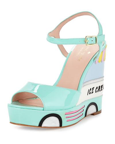 KATE SPADE 'Dotty' Wedge Sandal (Women)