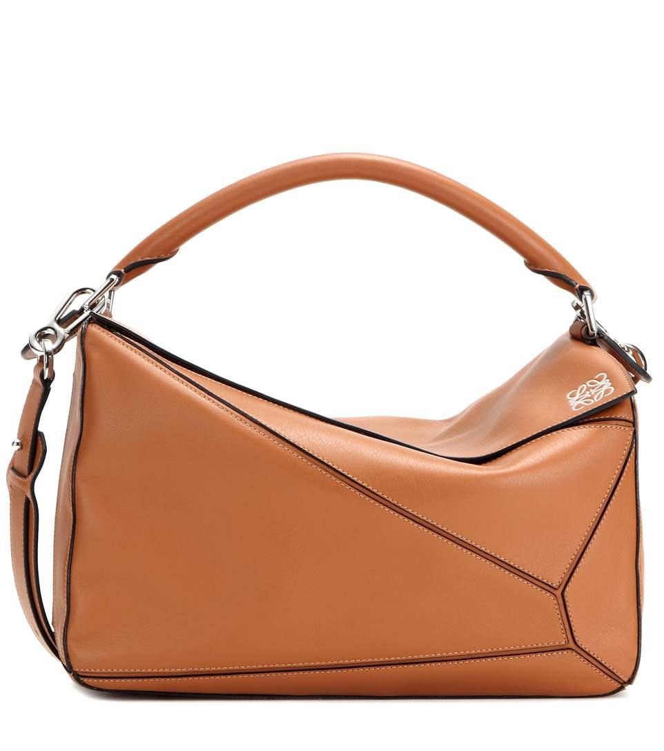 LOEWE Puzzle Medium Leather Shoulder Bag at mytheresa.com