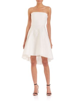HALSTON HERITAGE Strapless Structured Cocktail Dress, Beige at Saks Fifth Avenue