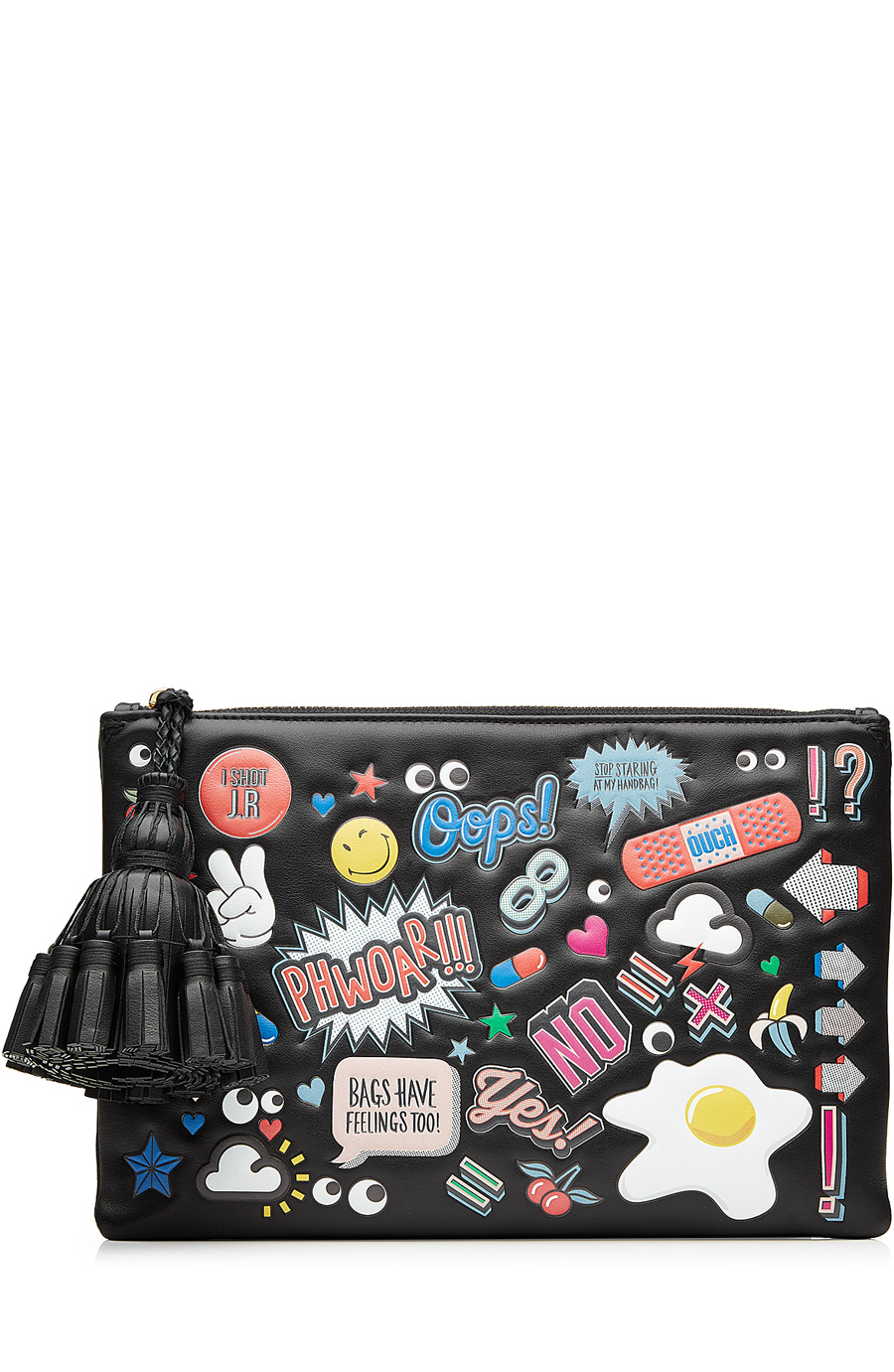 ANYA HINDMARCH Crossbody All Over Wink Stickers Bag In Black Circus Leather at STYLEBOP.com