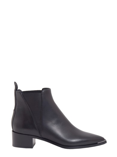 ACNE STUDIOS Jensen Pointy-Toe Ankle Boot, Black at Italist.com