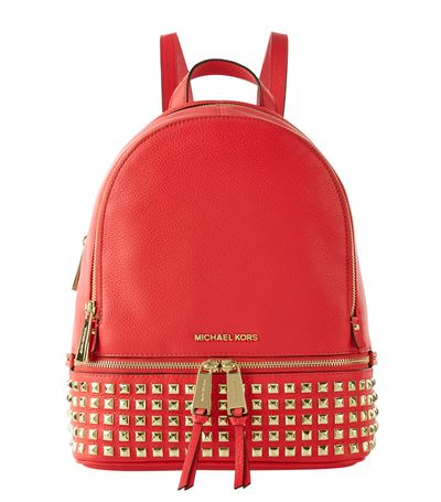 b8bc36e3323e3f ... sale selma medium coral reef leather messenger bag michael michael kors  rhea small studded backpack in