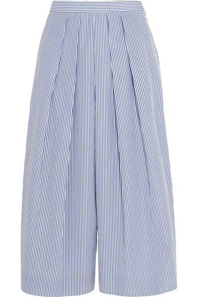 J.CREW Striped Cotton-Poplin Culottes