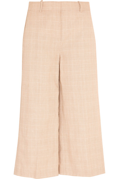 J.CREW Collection Plaid Linen And Cotton-Blend Culottes