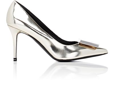 ACNE STUDIOS Andrea Metallic Leather Pumps at BARNEYS WAREHOUSE