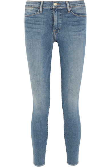 FRAME Le Skinny De Jeanne Crop Mid-Rise Jeans at NET-A-PORTER