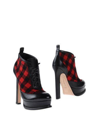 SOPHIA WEBSTER Katy Leather Tartan Heeled Ankle Boots at yoox.com