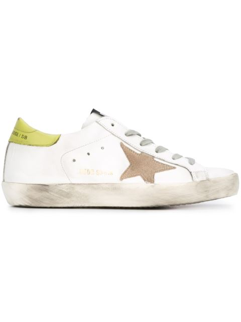 GOLDEN GOOSE Super Star Low-Top Suede And Leather Trainers