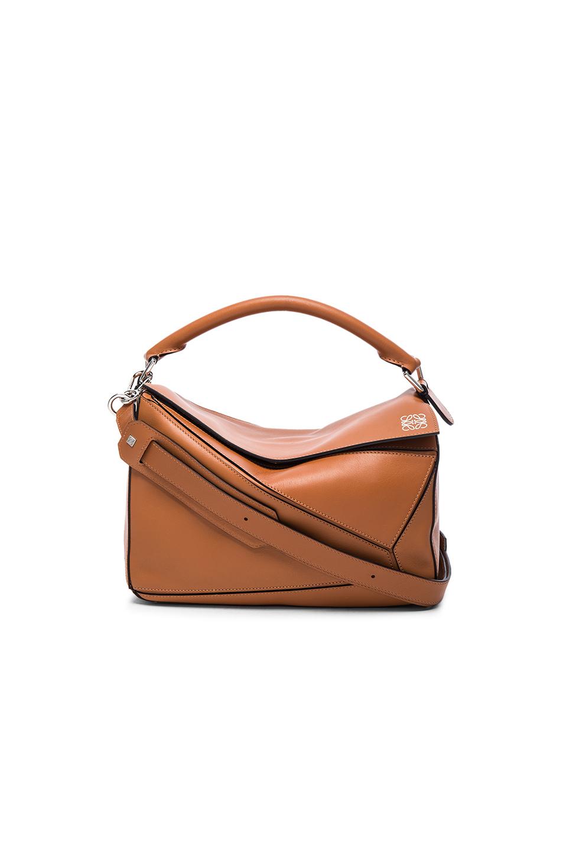 LOEWE Puzzle Medium Leather Shoulder Bag at FORWARD