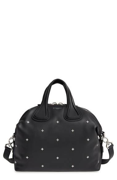 GIVENCHY Nightingale Micro Black Leather Satchel Bag W/Metal Cross at Nordstrom