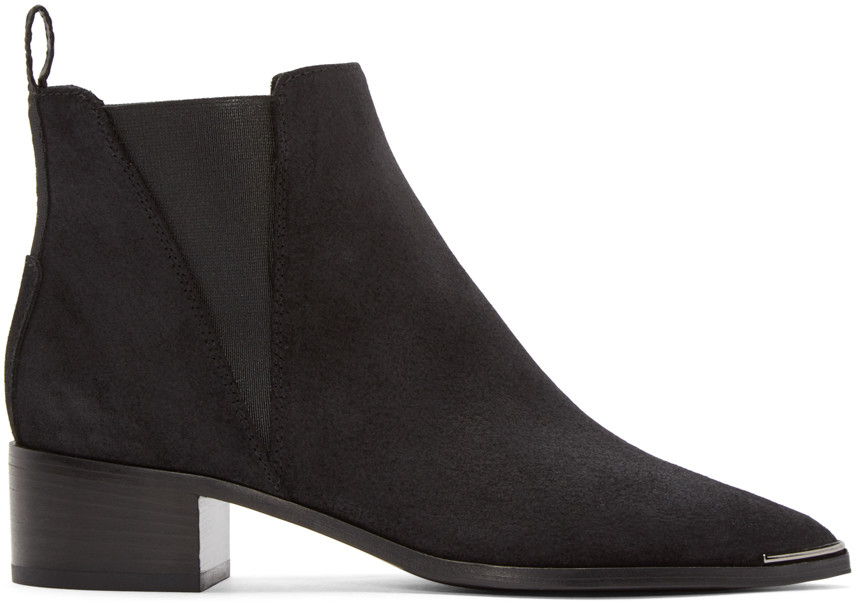 ACNE STUDIOS Jensen Pointy-Toe Ankle Boot, Black at SSENSE