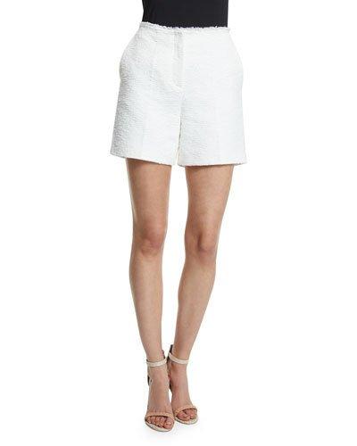 THEORY Mirak Spring Tweed Shorts, White
