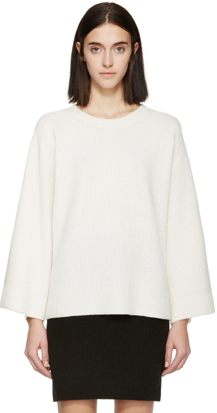 HELMUT LANG Cream Wool & Cashmere Sweater