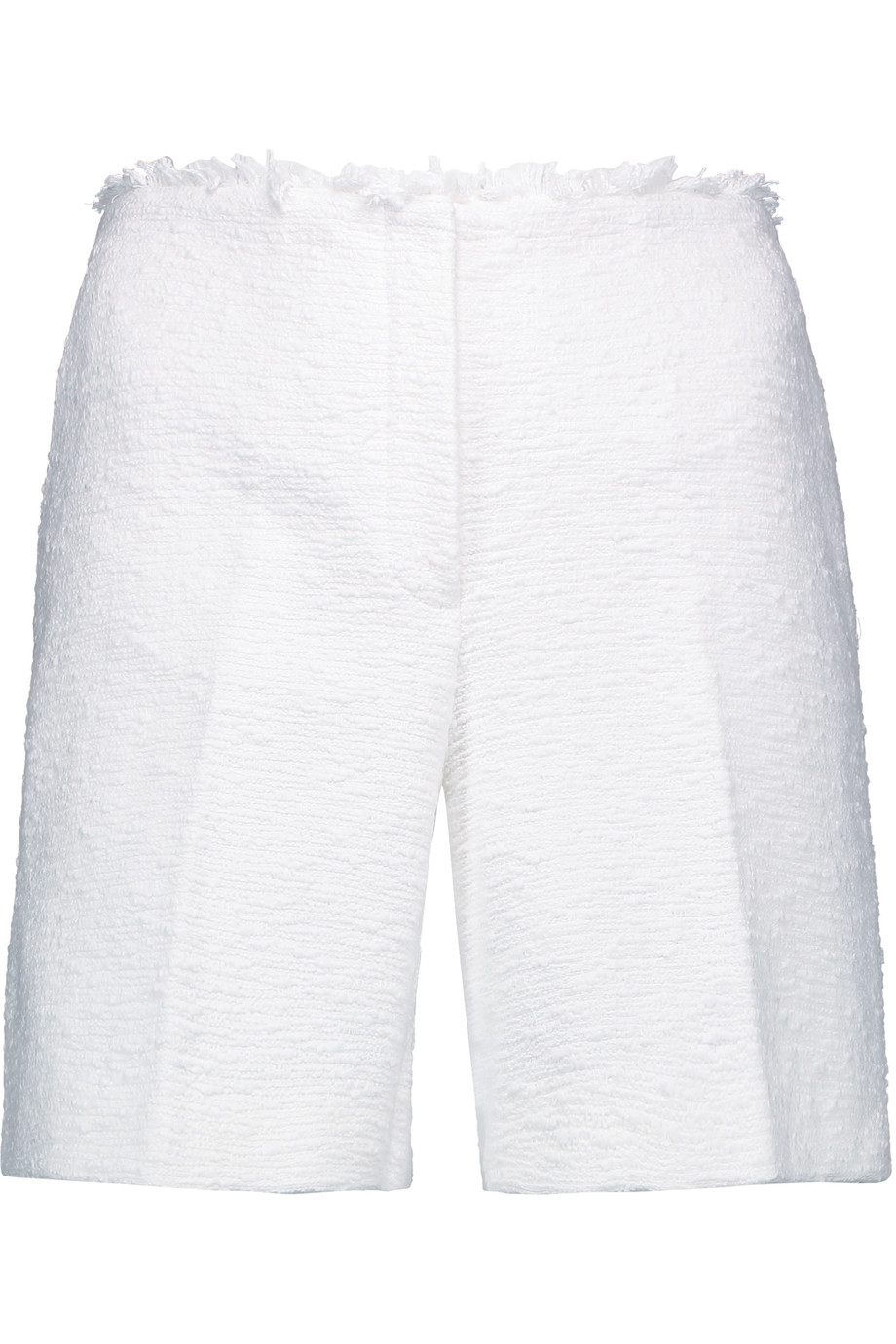 THEORY Mirak Spring Tweed Shorts, White at THE OUTNET.COM
