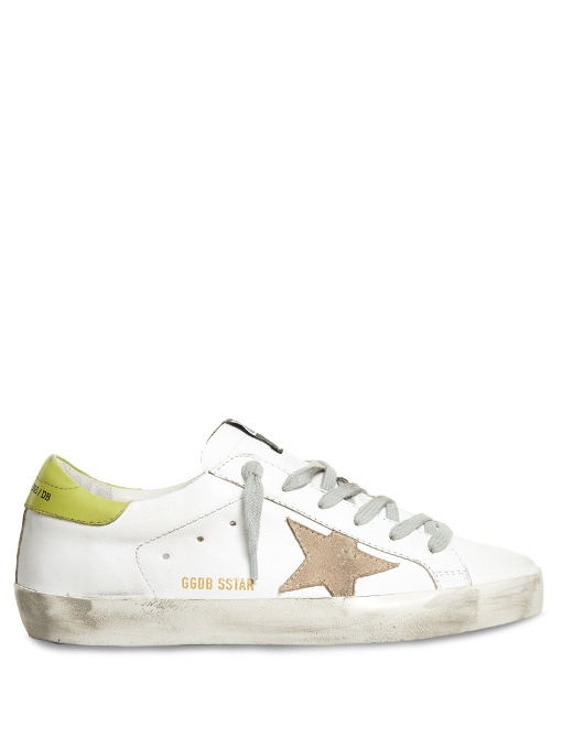GOLDEN GOOSE Super Star Low-Top Suede And Leather Trainers at MATCHESFASHION.COM