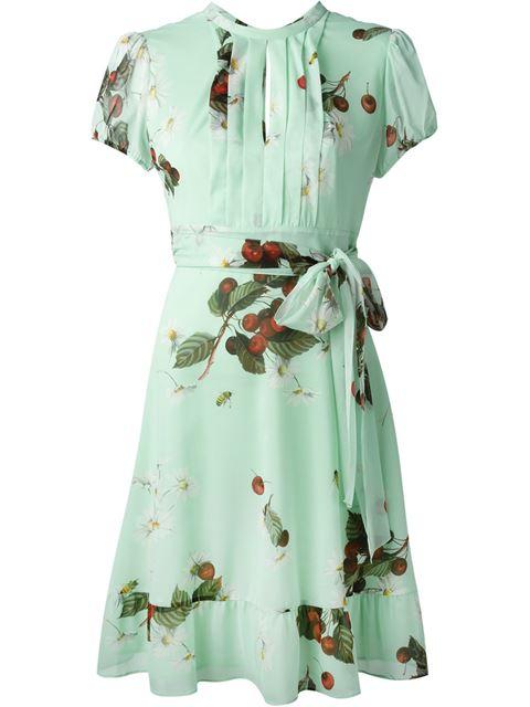 RED VALENTINO Daisy And Cherry Print Dress