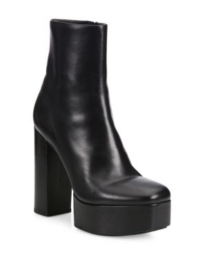 ALEXANDER WANG Cora Leather Platform Ankle Boots