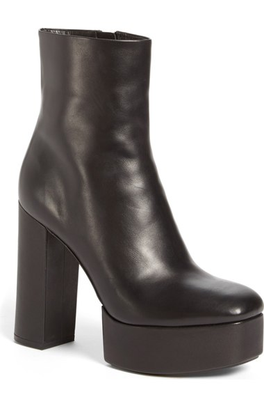 ALEXANDER WANG Cora Leather Platform Ankle Boots at Nordstrom