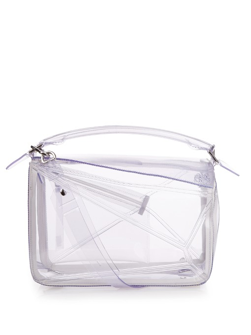 LOEWE Puzzle Small Transparent Bag