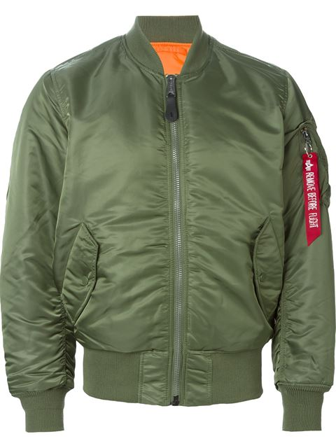 ALPHA INDUSTRIES Ma-1 Vf Reversible Nylon Bomber Jacket, Sage Green at Farfetch