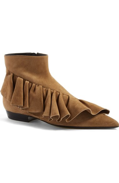 J.W.ANDERSON Ruffle Pointy Toe Bootie (Women) at Nordstrom