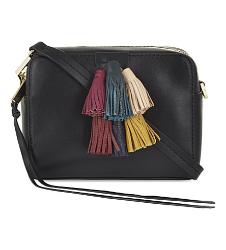REBECCA MINKOFF Sofia Mini Tassel Crossbody Bag, Black/Multi