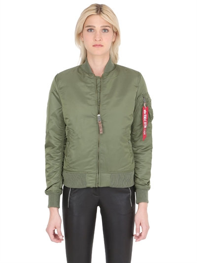 ALPHA INDUSTRIES Ma-1 Vf Reversible Nylon Bomber Jacket, Sage Green at LUISAVIAROMA