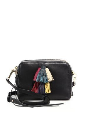 REBECCA MINKOFF Sofia Mini Tassel Crossbody Bag, Black/Multi at Saks Fifth Avenue