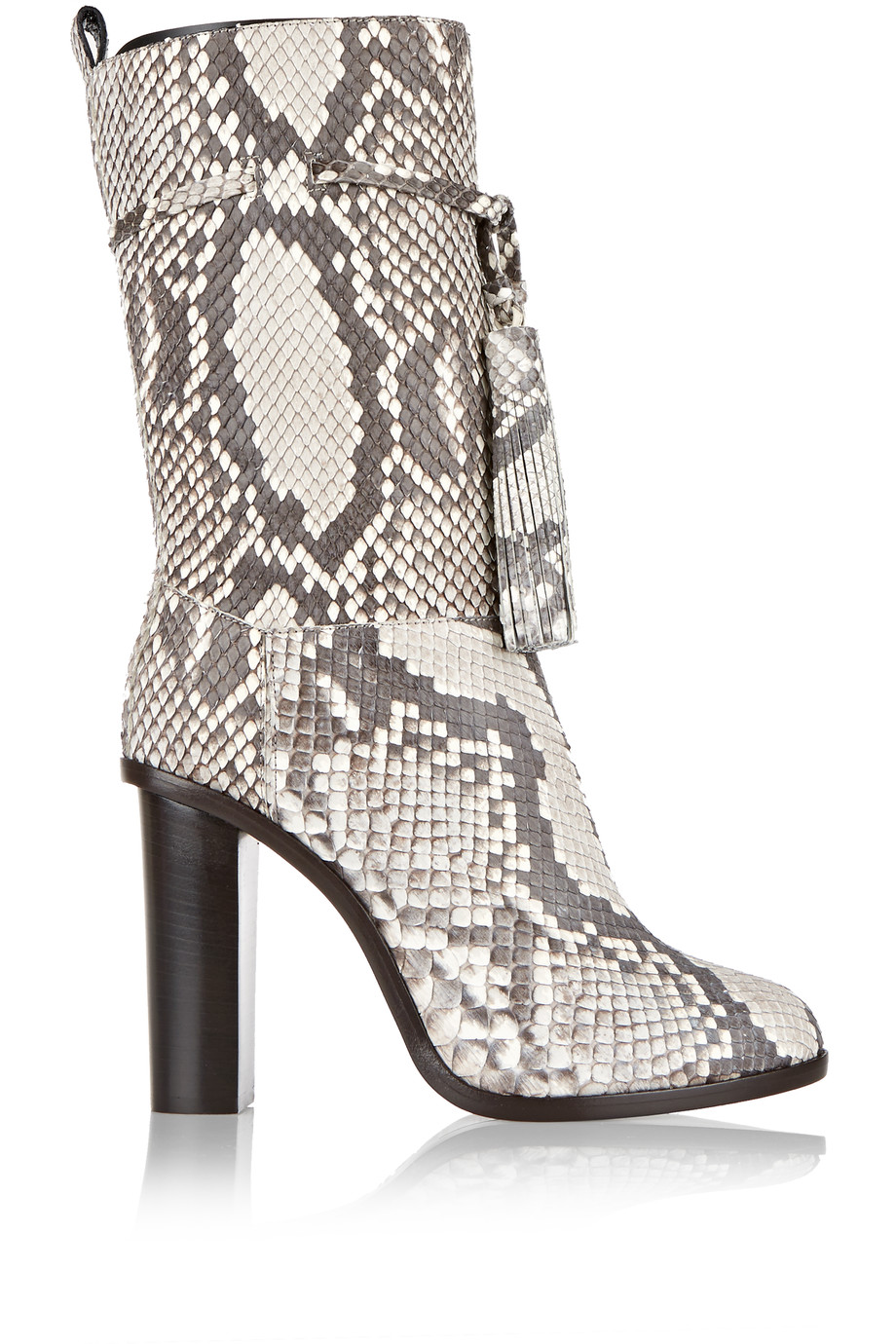 LANVIN Tasseled Python Boots at THE OUTNET.COM