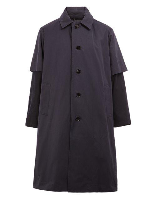 08SIRCUS Overlay Sleeve Coat